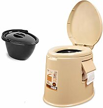Zhang Camping Toilette mit Sitz, Komfort Tragbare