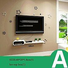 ZHANG-Wanddekoration- Set Top Box Rack TV Wanddekoration TV-Schrank Wohnzimmer Wand-Trennwände Schlafzimmer-Wandregale Wanddekorationen (Mehrfache Arten vorhanden) - Die Mauer schützen, die Innenumgebung verschöner ( Farbe : A )