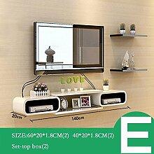 ZHANG-Wanddekoration- Set Top Box Rack TV Wanddekoration TV-Schrank Wohnzimmer Wand-Trennwände Schlafzimmer-Wandregale Wanddekorationen (Mehrfache Arten vorhanden) - Die Mauer schützen, die Innenumgebung verschöner ( Farbe : E )