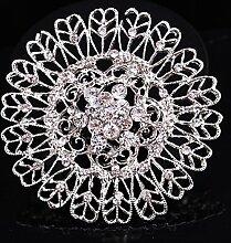 ZHANG44 Pfauenfedern mehrschichtige kristall