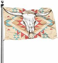ZHANGhome Erwachsene Flaggen Stierkopf Schädel