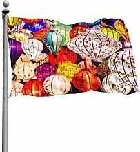 ZHANGhome Flag Home Decor Bunte chinesische rote