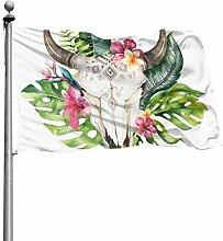 ZHANGhome Flaggen Party Dekoration Stierkopf mit