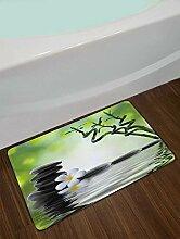 zhanghui2018 Schwarz Stein weiße Blume Bambus spa