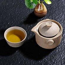 Zhangjinping Antike Steingut Quik Tasse Topf mit
