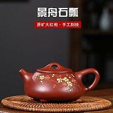 Zhangjinping Große rote handgemachte Teekanne