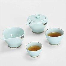 Zhangjinping Reise-Tee-Set Teetasse mit Beutel,