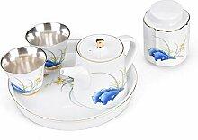 Zhangjinping Tee-Set für zwei Tassen Tee-Set mit