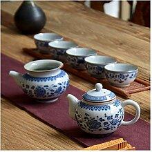 Zhangjinping Tee-Set mit blauen und weißen