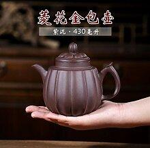 ZHANGJINPING Teekanne aus feinem Erz, lila, Ryoka