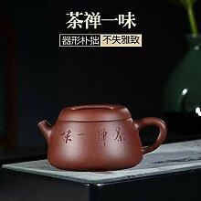 ZHANGJINPING Teekanne mit Deckel, fein, lila Ton