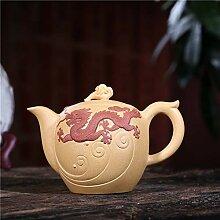 Zhangjinping Teekanne mit Drachen-Motiv, goldfarben