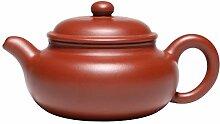Zhangjinping Teekanne mit Kugelloch, groß, Rot
