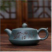 Zhangjinping Teekanne mit Sockel, Grün