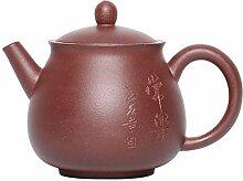 Zhangjinping Teekanne mit violetten Tonperlen,