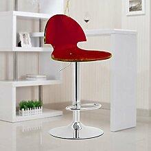 ZHANGRONG- Acryl Bar Hocker Lift Bar Stühle Mode einfacher Haus Freizeit Drehstuhl Hocker (Farbe optional) --Barhocker ( Farbe : 7 )