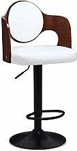 ZHANGRONG- Amerikanischer Retro-Hocker Massivholz Stühle Kann den Vordergrund heben Sofa Hocker (Farbe optional) --Barhocker ( Farbe : 2 )