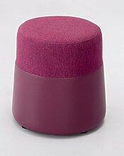 ZHANGRONG- Art und Weise rundes Stuhlgewebe Sofa Hocker Kreativer Schminkstuhl Home Sitzung Pier Schminktisch Umkleidekabine Schlafzimmer Tür Sofa Hocker (Farbe wahlweise freigestellt) --Lagerhocker ( Farbe : #3 )