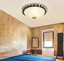 ZHANGRONG-Gute Qualität-- Amerikanisches Land Antikes rundes Glas Deckenleuchten Europäischer Balkon Gangschlafzimmer Wohnzimmer Studie Deckenleuchten (Größe, Farbe optional) --Efficiency:A+++ ( größe : 39cm )