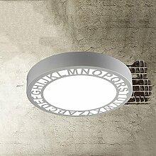 ZHANGRONG-Gute Qualität-- Nordic moderne einfache kreative runde LED Eisen Deckenleuchten Schlafzimmer Balkon Gang Treppe Küche Deckenleuchten (Farbe, Lichtfarbe optional) --Efficiency:A+++ ( Farbe : White-white-light )