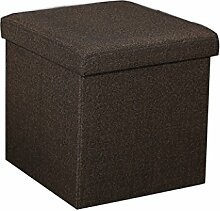 ZHANGRONG- Kann gefaltet Multi-Funktions-Platz Stuhl Stuhl Hocker Ändern Schuhe Stuhl Spielzeug Aufbewahrungsbox Finishing-Box Sofa Hocker (Farbe wahlweise freigestellt) --Lagerhocker ( Farbe : E )