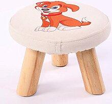 ZHANGRONG- Kleine Hocker für Schuhe Hocker Massivholz-Stoff Kreative Children 's Erwachsener Kleine Stuhl Sofa Hocker (einer Vielzahl von Stilen optional) --Lagerhocker ( Farbe : F )
