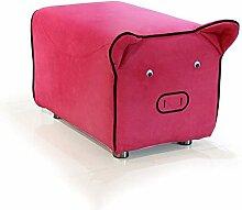 ZHANGRONG- Lovely change Schuh Hocker Untergrundsofa Fußbank Kreative Kinder Ferkel Sofa Hocker (Stil optional) --Sofa Hocker ( Farbe : 2 )