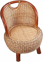 ZHANGRONG- Natürlicher Bambus handgemachter Bambus Sessel Einfache kreative Balkon Rattan Sofa Hocker --Lagerhocker