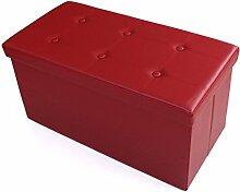 ZHANGRONG- Rectangular Folding Aufnahme Sofa Hocker Aufbewahrungsbox kann eine multifunktionale ändern Schuhe Stuhl Sofa Hocker (Farbe optional) --Lagerhocker ( Farbe : A )