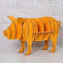 ZHANGRONG- Regal Tierkreis  Schwein  Holz Dekoration  Produkt  Bücherregal  Möbel  Pendelstücke ( Farbe : A )