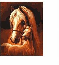 zhangshifa Digitales Ölgemälde Pferd Paare Malen