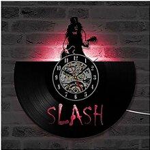 ZhangXF Slash Star Wars Schallplatte Wanduhr, LED