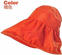 ZHANGYONG*Frau Sommer visor Tide UV-Maximale entlang der Sandstrand in die Gap Kinder Sommer Sonnenschutz faltbar cool cap Hüte, Orange