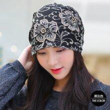 ZHANGYONG*Herbst beige violett Frühjahr Fischer hüte Tide elegante Waschbecken Kappe, Sonnenblende, die Fusselfreien), Spitzen bohren Blume