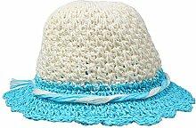 ZHANGYONG*Sommer Damen am Strand Cap Gras hüte Hüte visor UV-Sonnenschutz Stetson Hut Hüte, 50-52cm (), Himmelblau