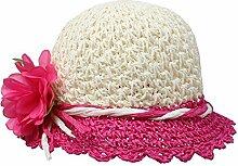 ZHANGYONG*Sommer Damen am Strand Cap Gras hüte Hüte visor UV-Sonnenschutz Stetson Hut Hüte, 50-52cm), ro