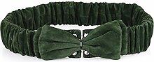 ZHANGYONG Süß Fusselfreien Tuch Gurtlose Querbinder Mit Großen Weiblichen Röcke Wilde Dekoration Elastische Mäntel Röcke Stilvolle Grün