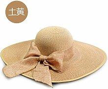 ZHANGYONG*Trendy entlang der Markisen Buchstaben Strohhut tide Visier Sonnenschutz Frau Sandy Beach Resort and Hüte, Ronald sind Code Anthurium