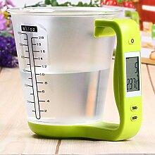 ZHANGYUGE Haushalt Küche Wasser Messbecher Waage