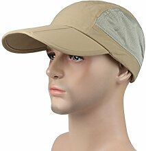 ZHANGYUQI Männer und Frauen Angeln Caps Outdoor-Männer Baseball-Kappe Falten Hut Ente Zunge Sonnenschutz Kappe ( Farbe : Khaki )