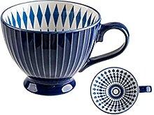 ZHANGZHI Keramik Kaffeetasse Frühstück Nette