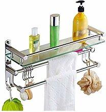 ZhanMazwj Handtuchhalter Bad Dusche Glas Ablage