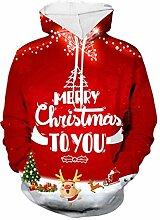ZHANSANFM Weihnachten Hoodie Unisex 3D Christmas