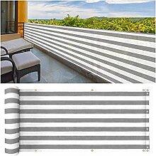 ZHANWEI Balkon Sichtschutz, Mit Kante Ösen