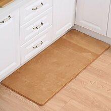 ZHANWEI Bereich Teppiche Badezimmer Wasserdichte Tür Matte Küche Anti-Rutsch Boden Matte lange Nachttisch Fuß Teppich ( Farbe : Gelb , größe : 80*160cm )