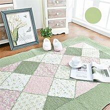 ZHANWEI Bereich Teppiche Baumwolle Haushalt rechteckige Fußmatten Pastoral Schlafzimmer leben Rom Teppich ( Farbe : B , größe : 200*230cm )