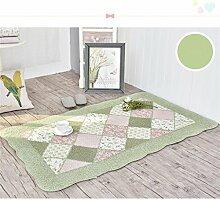 ZHANWEI Bereich Teppiche Baumwolle Haushalt rechteckige Fußmatten Pastoral Schlafzimmer leben Rom Teppich ( Farbe : D , größe : 90*155CM )