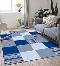 ZHANWEI Bereich Teppiche Büro-Couchtisch-großer Teppich-einfaches modernes Wohnzimmer-Schlafzimmer-Nachttisch-rechteckige Matte ( Farbe : D , größe : 0.5*1.2m+0.5*0.8m )