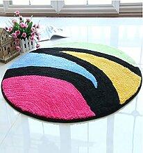 ZHANWEI Bereich Teppiche Computer Stuhl Teppich Nachttisch rutschfeste wasserdichte runde Teppichboden Matte ( Farbe : B , größe : 1.2M )