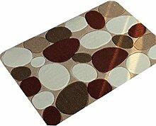 ZHANWEI Bereich Teppiche Creative Stone Feuchtigkeitsbeständige Anti-Rutsch-Teppich Wasserabsorption tragen Bad Halle Küche Schlafzimmer Wohnzimmer Eingang Teppich ( größe : 40*60cm )